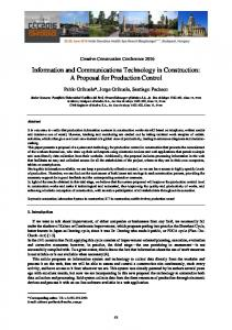 Information and Communications Technology in Construction: A