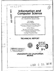 Information and Computer Science - Defense Technical Information ...