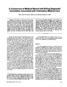 Information Associated with Ambulatory Medical Care - NCBI