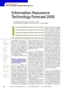 Information Assurance Technology Forecast 2005 - Carl E. Landwehr