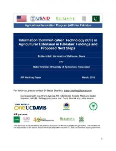 Information Communication Technology (ICT) in ...