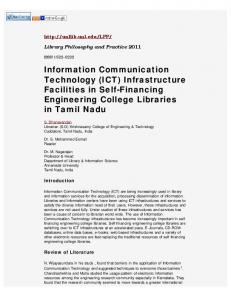 Information Communication Technology (ICT) Infrastructure ...