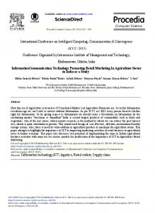 Information Communication Technology Promoting ... - ScienceDirect