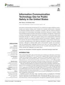 Information Communication Technology Use for Public ... - Frontiers