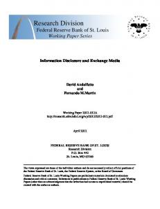 Information Disclosure and Exchange Media