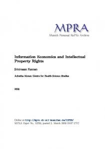 Information Economics and Intellectual Property Rights
