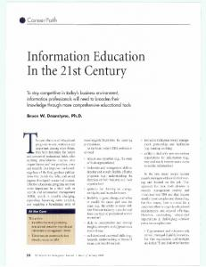 Information Education In the 21st Century
