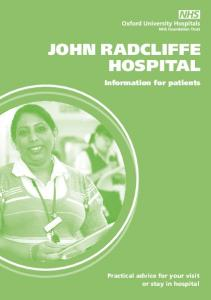 Information for patients - John Radcliffe Hospital (pdf, 1.5 MB)