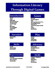Information Literacy Through Digital Games