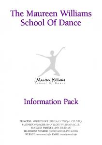 information pack 3:information pack 3 - Maureen Williams School Of ...