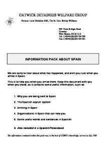 INFORMATION PACK ABOUT SPAIN
