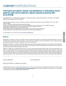 Information perception, wishes, and satisfaction in ... - BioMedSearch