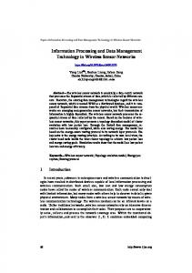 Information Processing and Data Management Technology in