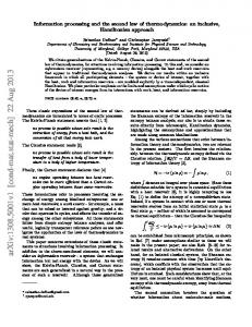 Information processing and the second law of thermodynamics: an ...