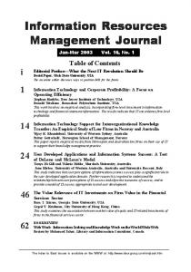 Information Resources Management Journal