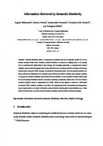 Information Retrieval by Semantic Similarity - Intelligent Systems ...