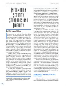 Information Security Standards and Liability