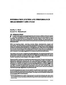 information system and performance measurement life cycle