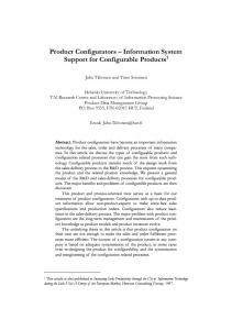 Information System Support for Configurable ... - Computer Science