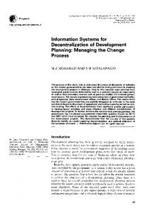 Information Systems for Decentralization of ... - Science Direct