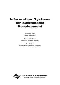 Information Systems for Sustainable Development - PublicationsList.org
