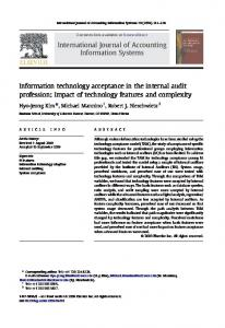Information technology acceptance in the internal audit profession ...