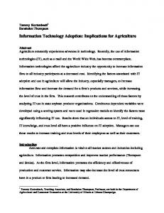 Information Technology Adoption: Implications for ... - CiteSeerX