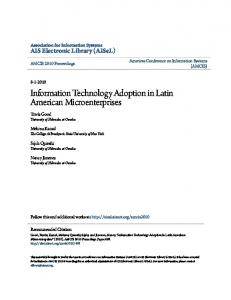 Information Technology Adoption in Latin