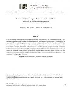 Information technology and communication and best ... - SciELO