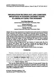 information technology and consumer behaviour in tourism