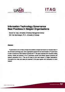 Information Technology Governance Best ... - Semantic Scholar