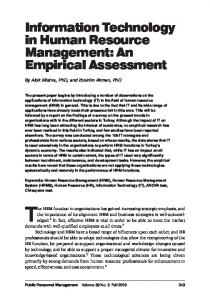 Information Technology in Human Resource Management: An ...