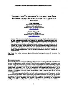 information technology investment and firm performance