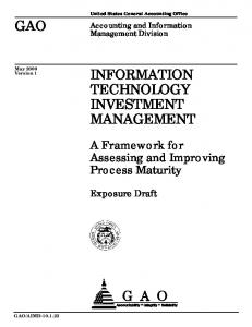 Information Technology Investment Management (ITIM)