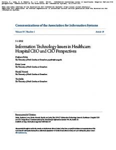 Information Technology Issues in Healthcare - Semantic Scholar