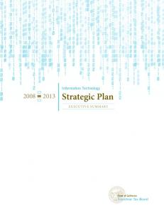 Information Technology Strategic Plan Executive Summary 2008-2013