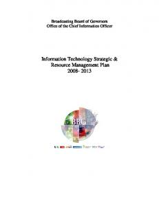 Information Technology Strategic & Resource Management Plan ...