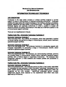 INFORMATION TECHNOLOGY TECHNICIAN