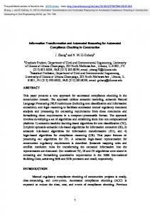 Information Transformation and Automated Reasoning for Automated ...