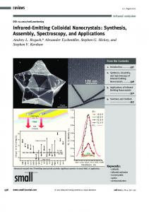 Infrared-Emitting Colloidal Nanocrystals - Wiley Online Library
