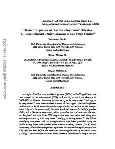 Infrared Properties of Star Forming Dwarf Galaxies: Blue Compact ...