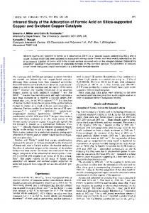 Infrared Study of the Adsorption of Formic Acid on ...