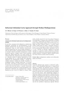 Infrarenal Abdominal Aorta Approach through ... - Semantic Scholar