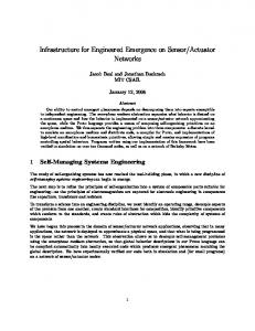 Infrastructure for Engineered Emergence on Sensor/Actuator Networks