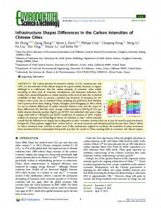 Infrastructure Shapes Differences in the Carbon ... - ACS Publications
