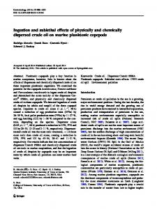 Ingestion and sublethal effects of physically and ... - Springer Link