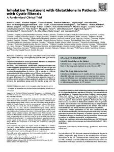 Inhalation Treatment with Glutathione in Patients with ... - ATS Journals