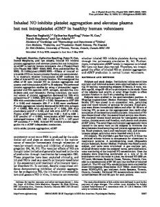 Inhaled NO inhibits platelet aggregation and elevates plasma but not ...