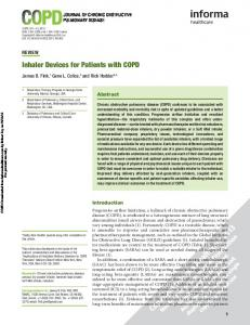 Inhaler Devices for Patients with COPD