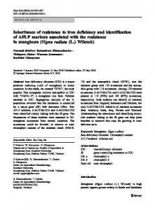 Inheritance of resistance to iron deficiency and identification of AFLP ...